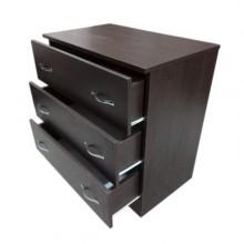 Comoda 3 sertare, Wenge, Ramely, 80x48x82 cm