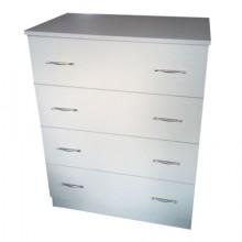Comoda 4 sertare, alb, Ramely, 80x50x105 cm