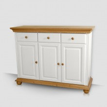 Comoda lemn masiv Romantica, 3 usi + 3 sertare