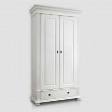 Dulap lemn masiv Verona, 2 usi, alb