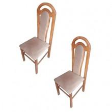 Set 2 scaune lemn masiv fag, tapitat, Ramely, 110x50x46 cm