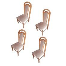 Set 4 scaune lemn masiv fag, tapitat, Ramely, 110x50x46 cm