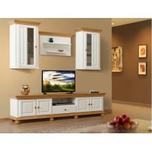 Set mobila living Romantica 220 cm, lemn masiv,  clasic