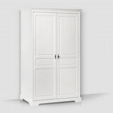 Dulap lemn masiv Cleopatra, alb, 2 usi, 120x198x60 cm