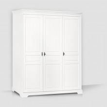 Dulap lemn masiv Cleopatra, alb, 3 usi, 173x198x60 cm