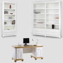 Set mobila office Bucovina 3, lemn masiv