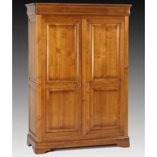 Dulap lemn masiv Lorena, 2 usi, cires, 140x60x200 cm