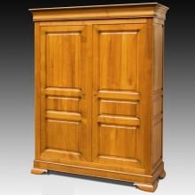 Dulap lemn masiv Lorena, 2 usi, cires, 171x65x217 cm