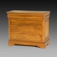 Comoda lemn masiv Lorena, 5 sertare, cires, 110x51x93 cm