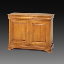 Comoda lemn masiv Lorena, 2 usi si 2 sertare, cires, 126x52x98 cm
