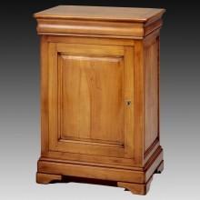 Comoda lemn masiv Lorena, 1 usa si 1 sertar, cires+fag, 71x52x98 cm