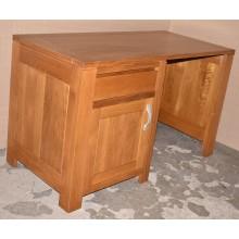 Masa birou Luca, 1 usa + 1 sertar,  lemn masiv stejar