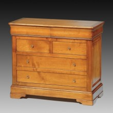 Comoda lemn masiv Lorena, 6 sertare, cires, 110x50x93 cm