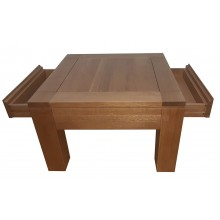 Masuta cafea Stefania, lemn masiv de stejar, 70x70x45 cm