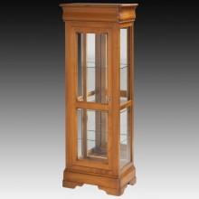 Vitrina Lorena, 4 laturi sticla, lemn masiv cires, 60x38x161 cm