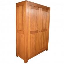 Dulap cu 2 usi Stefania, lemn masiv stejar, 130x55x190 cm