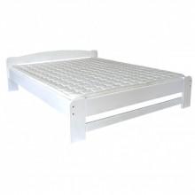 Pat lemn masiv DUMBO 2/1, 140x200 cm, alb