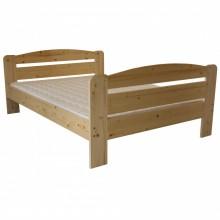 Pat lemn masiv DUMBO 3/3, 160x200 cm, Lac