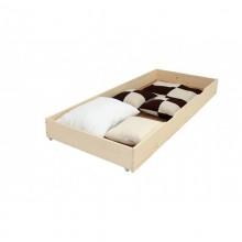 Lada de depozitare sub pat, lemn masiv, 80x200 cm, natur, lacuit
