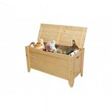 Lada depozitare, cutie jucarii Toy 90, lemn natur, lacuit