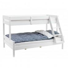 Pat etajat SANDRA, 80/120 x 200 cm, lemn masiv, alb
