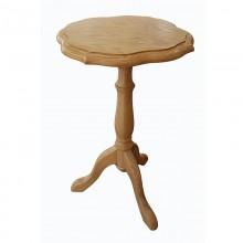 Masuta cafea cu un picior Ana, lemn masiv de frasin, 37x58 cm