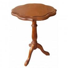 Masuta cafea cu un picior Ana, lemn masiv de cires, 37x58 cm