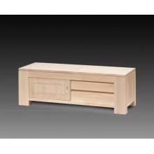 Comoda TV Stefania, lemn masiv de fag, usa culisanta, 140x50x47 cm
