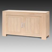 Comoda Stefania, lemn masiv de stejar, 2 usi, 152x50x85 cm
