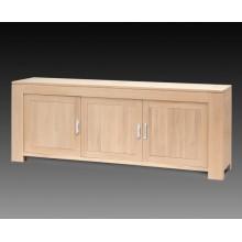 Comoda Stefania, lemn masiv de stejar, 3 usi, 225x50x85 cm