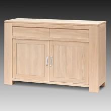 Comoda Stefania, lemn masiv de fag, 2 usi si 2 sertare, 152x50x95 cm