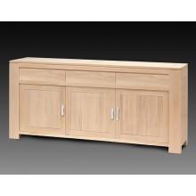 Comoda Stefania, lemn masiv de stejar, 3 usi si 3 sertare, 225x50x95 cm