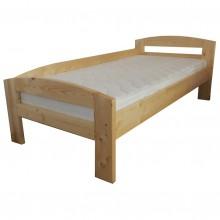 Pat dormitor Serena din lemn brad, 1 persoana, 100x200 cm cu protectie la perete