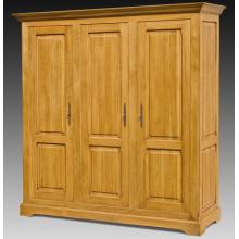 Dulap cu 3 usi Transilvania, lemn masiv stejar, 152x66x210 cm