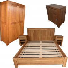 Set mobila dormitor Stefania 160-5, lemn masiv de stejar