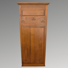 Cuier Ema, lemn masiv fag, finisaj alb, 200x70 cm