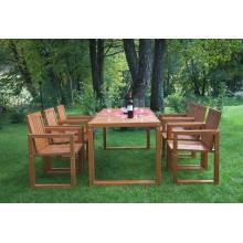 Set mobiler de gradina Hanna, lemn masiv, modern