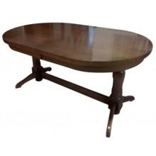 Masa extensibila din lemn masiv de fag, culoare stejar, 220x100x79 cm