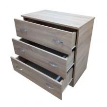 Comoda 3 sertare, Sonoma, Ramely, 80x48x82 cm