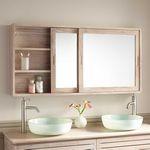 Oglinzi pentru baie simple sau cu dulapior si corp de iluminat